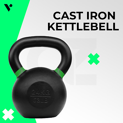 AU42.95 • Buy Verpeak Cast Iron Kettlebell Powder Coated Dumbbell Weight Lifting Gym Crossfit