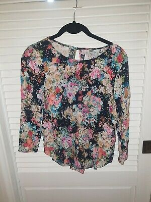 AU15 • Buy Forever New Viscose Floral Blouse 6
