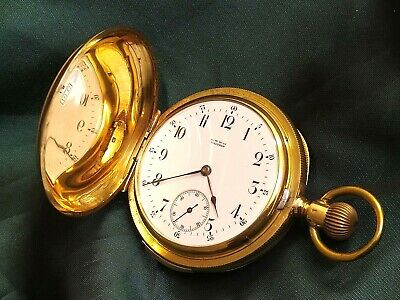 £5950 • Buy Waltham Solid 18ct Gold 5 Minute Repeater Full Hunter Pocket Watch C1888