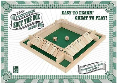 £15.99 • Buy Toyrific Traditional Wooden 4 Player Shut The Box Family Fun Game