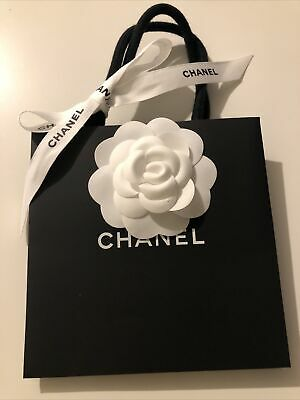 £6.50 • Buy 100% Authentic Chanel Small Paper Bag(14×16×8cm) With Flower And Ribbon