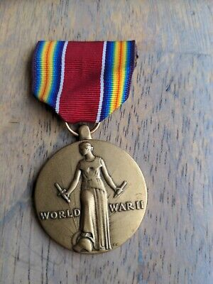 £14.19 • Buy Original WWII US VICTORY Campaign & Service Medal & Ribbon