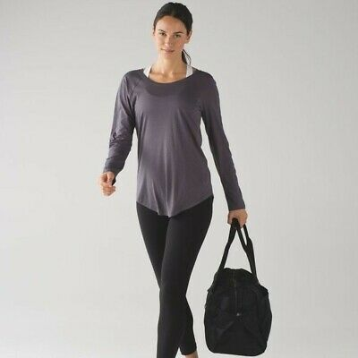 $ CDN43.67 • Buy Lululemon Locarno Long Sleeve Tee Dark Carbon Size 12