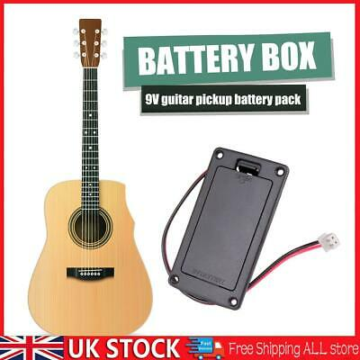 £6.05 • Buy 9V Pickup Battery Holder Case Box Compartment Cover Acoustic Guitar Replacement