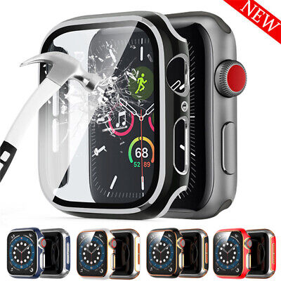 $ CDN6.46 • Buy For Apple Watch Series 6 SE 5 4 40MM/44MM Full Cover Glass Screen Protector Case