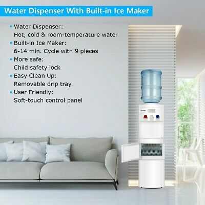 $359 • Buy Elegant Water Dispenser With Built-In Ice Maker Multi-Function And Top Loading
