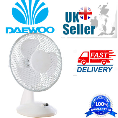 £13.99 • Buy Daewoo Clip Table Oscillating  Desk Fan For Home Office Mains Powered