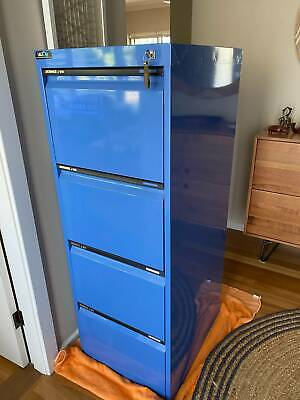 AU165 • Buy 4 Drawer Filing Cabinet In Very Good Condition With Two Keys