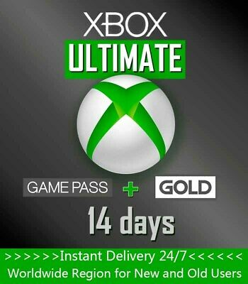 $ CDN2.71 • Buy Xbox Game Pass + Live Gold (Ultimate) 14 Days / 2 Weeks Trial Code - Global Card