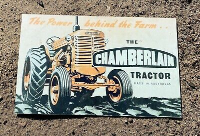 AU35 • Buy Chamberlain Farming Implements Tractor Advertising Metal Sign
