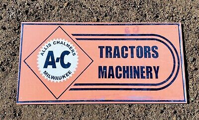 AU35 • Buy Allis Chalmers AC Tractor Implements Advertising Metal Sign