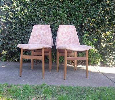 AU350 • Buy 4 Vintage Mid Century Dining Chairs