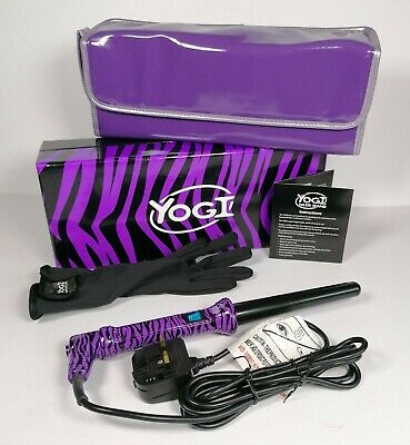 £25.99 • Buy Yogi Hair Curling Wand Boxed With Heat Glove Travel Storage Bag Instructions