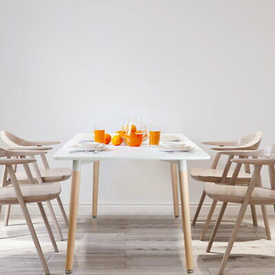 AU216.46 • Buy Artiss Dining Table 6 Seater Replica DSW Eiffel Cafe Kitchen White 120cm