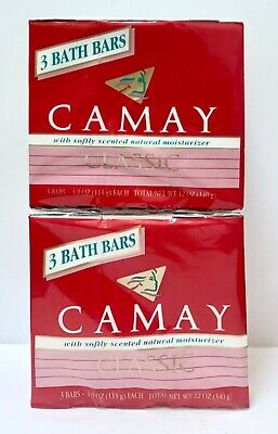 £24.13 • Buy Camay Soap 3 Pk Of 3 Pink Classic Softly Scented Moisturizer Bar 4.0 Oz Ea NEW