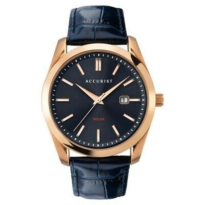 £80 • Buy Accurist Stainless Steel Solar 120 Watch For Men With Genuine Leather Strap