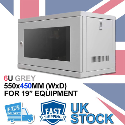 £82.63 • Buy 6U 19  450MM Network Cabinet Data Comms Wall Rack For Patch Panel, Switch, PDU