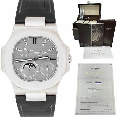 £56654.96 • Buy NEW Patek Philippe Nautilus Power Reserve Gold Moonphase 40mm Watch 5712G-001
