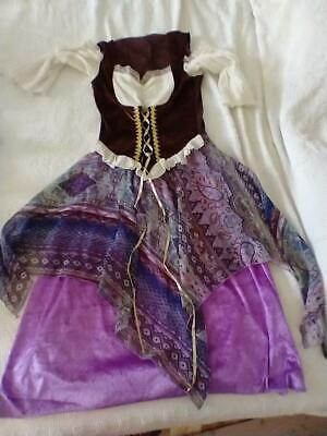 $ CDN12.12 • Buy Costumes Usa Woman Halloween Wench Costume Handkercheif Purple Dress Sz 6-8