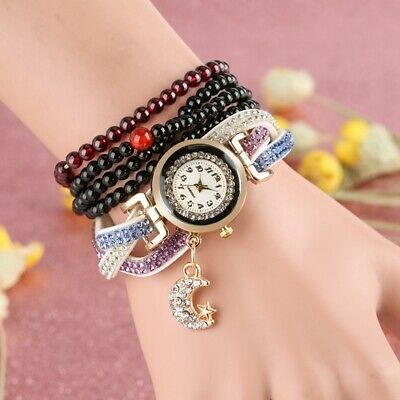$ CDN7.31 • Buy Charming Quartz Watch Women's Bracelet Watches Crystal Dial Leather Bangle Gift
