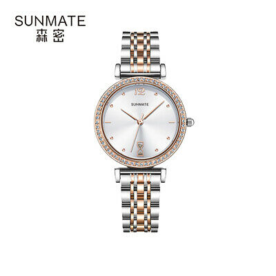 $ CDN28.95 • Buy Onlyou Watch Rhinestone Deco Women's Business Quartz Wristwatch Steel Bracelet