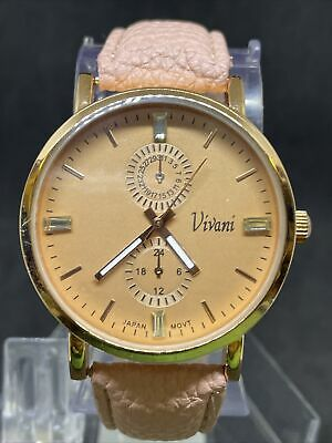 $ CDN1.20 • Buy Vivani Wac5219 Rose Gold Pink Strap Watch Women's #36