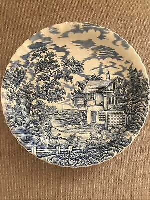 £25 • Buy The Hunter By Myott 12 Inch Serving Plate In Mint Condition.blue & White