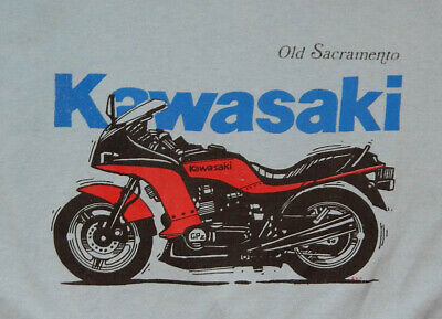 $ CDN41.25 • Buy Vintage 70s 80s Kawasaki Motorcycle Bike Old Sacramento T-shirt Tshirt XL