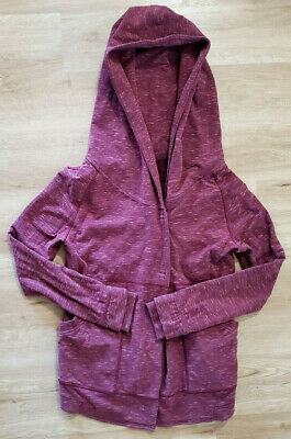 $ CDN60.49 • Buy Lululemon Womens Jacket Size 4 Find Your Centre Wrap Rust Berry Red