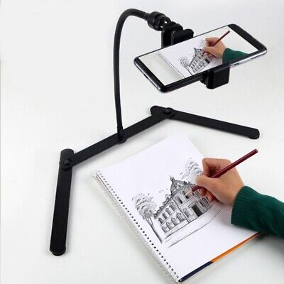 AU32.99 • Buy Adjustable Tripod With Cellphone Holder, Overhead Phone Mount, Table Top Te J3W2