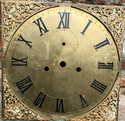 £39 • Buy Brass Grandfather Clock Dial Face Antique Roman Numerals Retro Upcycle Salvage