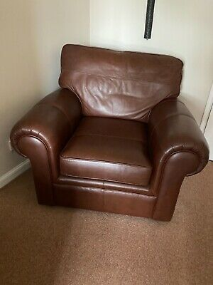 £150 • Buy Marks And Spencer Large Brown Leather Armchair Excellent Condition