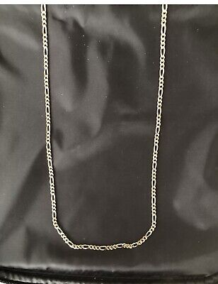 £135 • Buy 9 Carat Solid Gold Figaro 24 Inch Chain 15.7 Grams