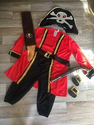£2.99 • Buy Childrens 8 Piece Wicked Pirate Fancy Dress Set ❤️ Age 5-7 Used Boys And Girls