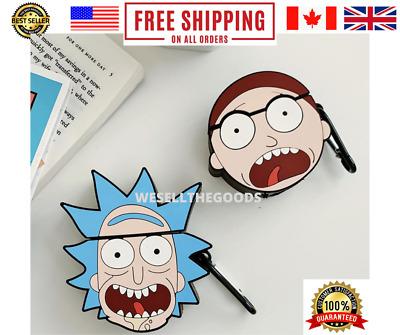 $ CDN12.09 • Buy Airpods Case Cover For Apple Rick And Morty Silicone Shockproof Protective Full