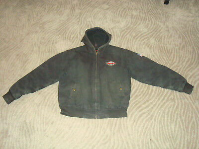 $ CDN24.14 • Buy Used Large Hooded Snap On Tools Jacket Coat Work Wear Quilted Lining