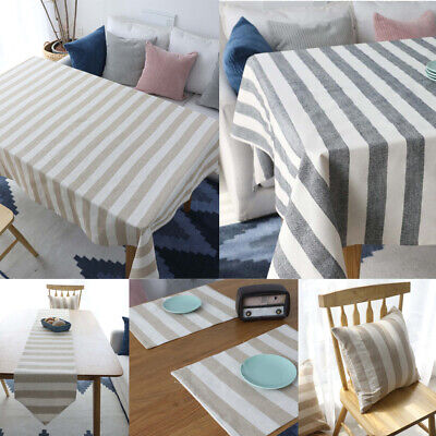 AU20.46 • Buy Cotton Linen Tablecloth Table Cloth Cover Rectangle Dining Kitchen Home Decor