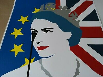 £650 • Buy PURE EVIL - QEll EU NIGHTMARE - BREXIT - LIMITED EDITION PRINT - RARELY FOR SALE
