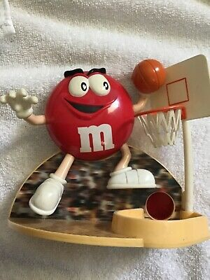 $9.99 • Buy Vintage M&M Jammin Red Candy Dispenser Basketball Player Dunk Advertising 1999