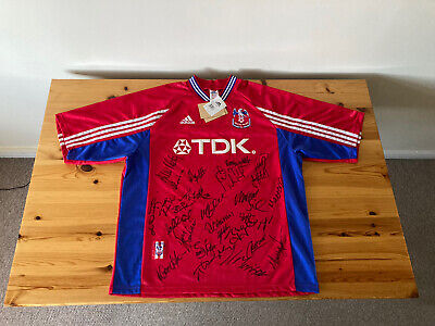 £56 • Buy Crystal Palace ORIGINAL TAGS Home Shirt SQUAD SIGNED 1998/1999 Vintage Football