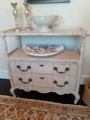 £225 • Buy French Style Painted Sideboard Buffet Feeder With Rwo Drawers And Caster Wheels