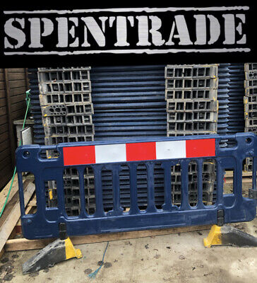 £799.20 • Buy ROAD BARRIERS 37 X TRAFFIC MANAGEMENT CHAPTER 8 PEDESTRIAN PLASTIC SAFETY £18ea