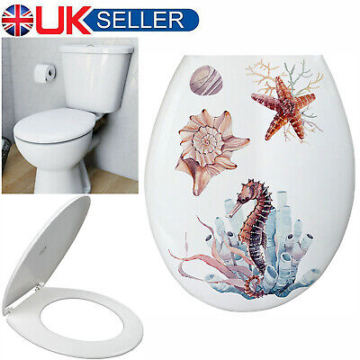 £13.49 • Buy 18  Sea Luxury Oval Toilet Seat Soft Heavy Duty Close Top Quick Release Hinges