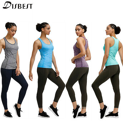 £7.99 • Buy Women Yoga Tops Stretchy T Shirt Quick Dry Running Sports Gym Ladies Summer Vest