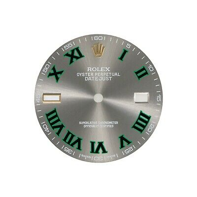 $ CDN314.71 • Buy ROLEX DATEJUST 41mm REFINED DIAL IN RHODIUM AND GREEN COLOR