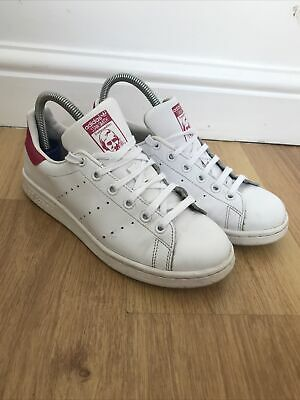AU32.71 • Buy ADIDAS STAN SMITH White And Pink Womens Girls Trainers Size 5  Ortholite