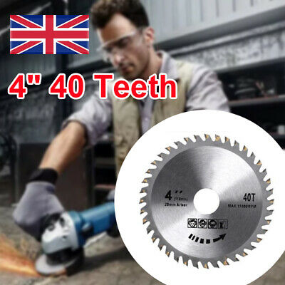 £6.59 • Buy Fits For Angle Grinder 4  40 Teeth 110mm Circular Saw Blade Disc Wood Cutting UK