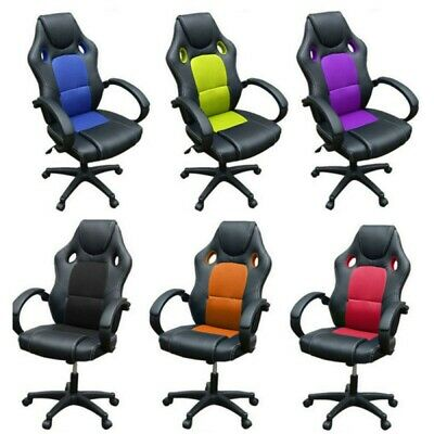 £67.49 • Buy Sport Racing Gaming Chairs Car Seat Office Armchair Executive Computer Chair New
