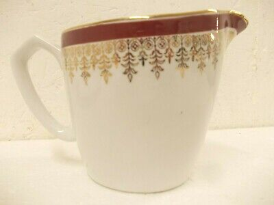 £9 • Buy Alfred Meakin Ironstone Suzanne Burgundy And Gold Cream Jug
