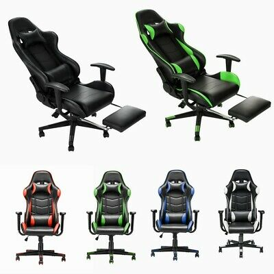 £69.99 • Buy Luxury Executive Racing Gaming Office Chair Lift Swivel Computer Desk Chairs NEW